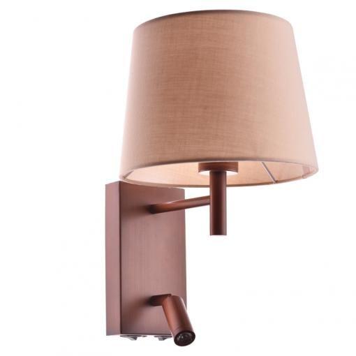 ACA LED nástěnná lampička s vypínačem STOF 3W/230V/3200K/210Lm/60°/IP20, hnědá