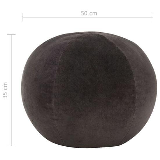 Greatstore Tabure iz bombažnega žameta 50x35 cm antraciten