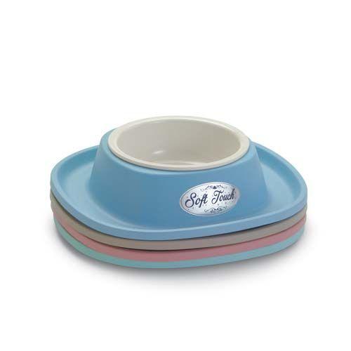 COBBYS PET Soft Touch PP 28x28x5,5cm plastová miska se stabilní gumovou podložkou 0,6l