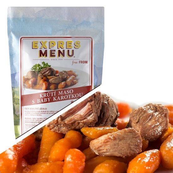 Expres Menu Krůtí maso s baby karotkou 300g (1 porce)