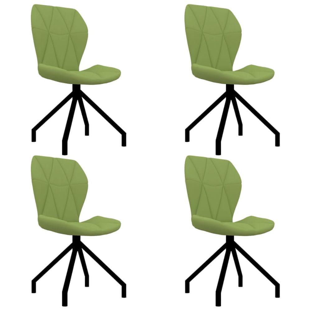 Jídelní židle 4 ks zelené umělá kůže