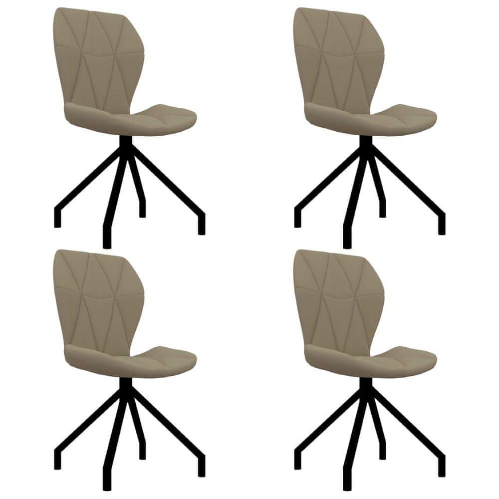 Jídelní židle 4 ks cappuccino umělá kůže