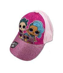 """SETINO Dziewczęca czapka z daszkiem """"LOL"""" - jasnoróżowy - 54 cm"""