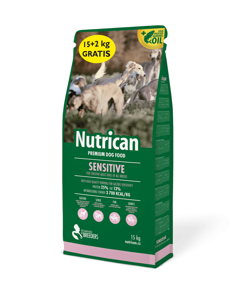 Nutrican with Sensitive 15 kg + 2 kg