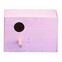 Kiki Drevená búdka horizontálna pre vtáky 14x22x13,5cm