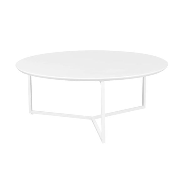 Bruxxi Konferenčný stolík Lilly, 80 cm, biela