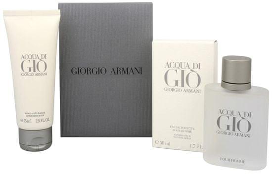 Armani Acqua Di Gio Pour Homme set, toaletna voda, 50 ml + balzam po britju, 75 ml