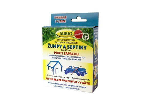 Subio BAKTERIE DO ŽUMPY A SEPTIKU - SeptiClean 50g