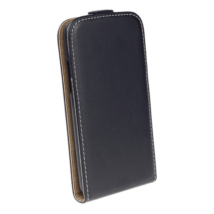 AMA Kožené pouzdro FLEXI Vertical pro Sony Xperia E4g - černé