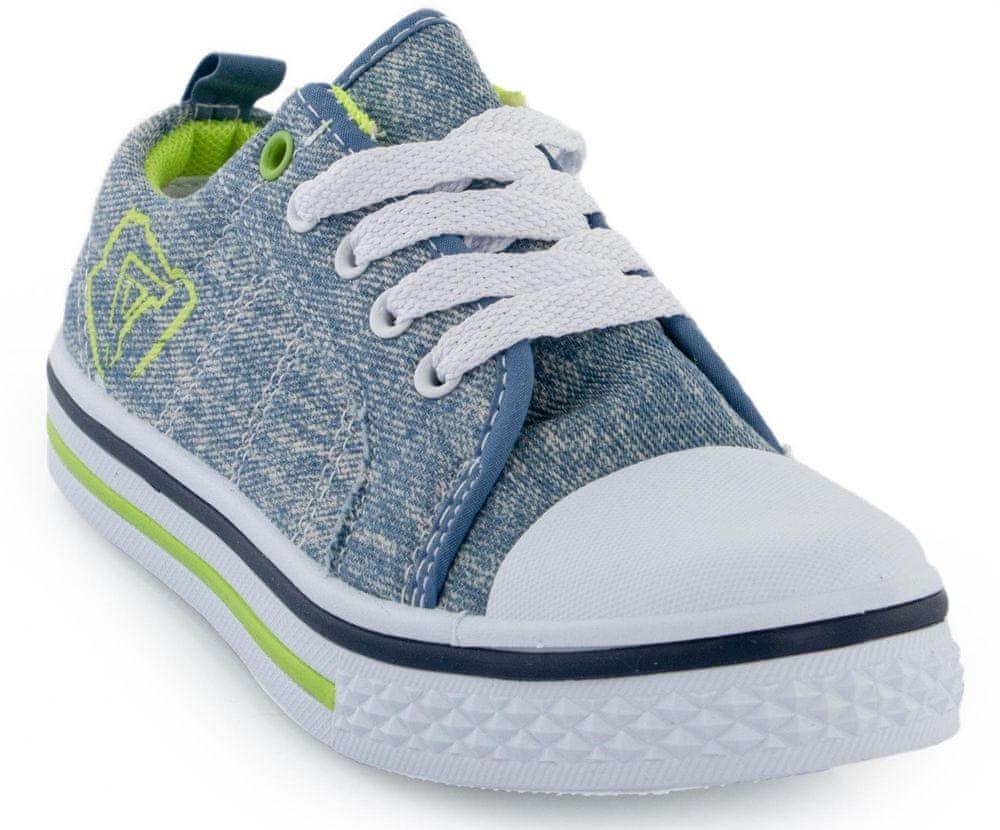ALPINE PRO chlapecká obuv SAIRO 33 modrá/zelená