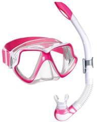 Mares Šnorchlovací set maska+šnorchl Wahoo Neon růžový