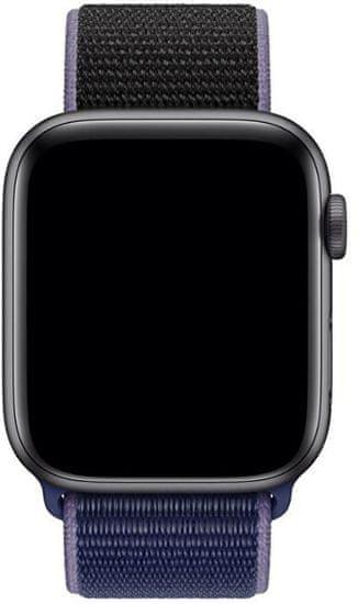 4wrist Nawlekany sportowy pasek do zegarka Apple Watch - blue/black 42/44 mm