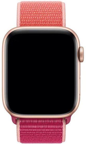 4wrist Nawlekany sportowy pasek do zegarka Apple Watch - różowy 42/44 mm