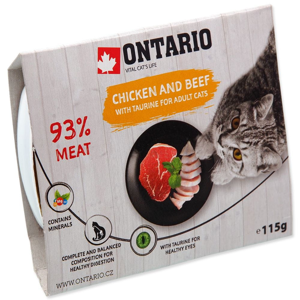 Ontario vanička Chicken with Beef 16x115 g