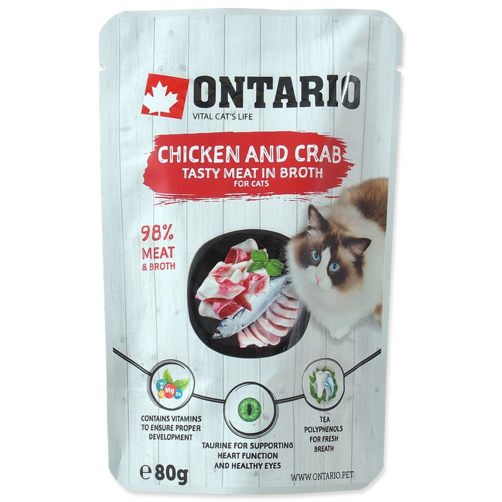 Ontario kaps. Chicken and Crab in Broth 15x80 g