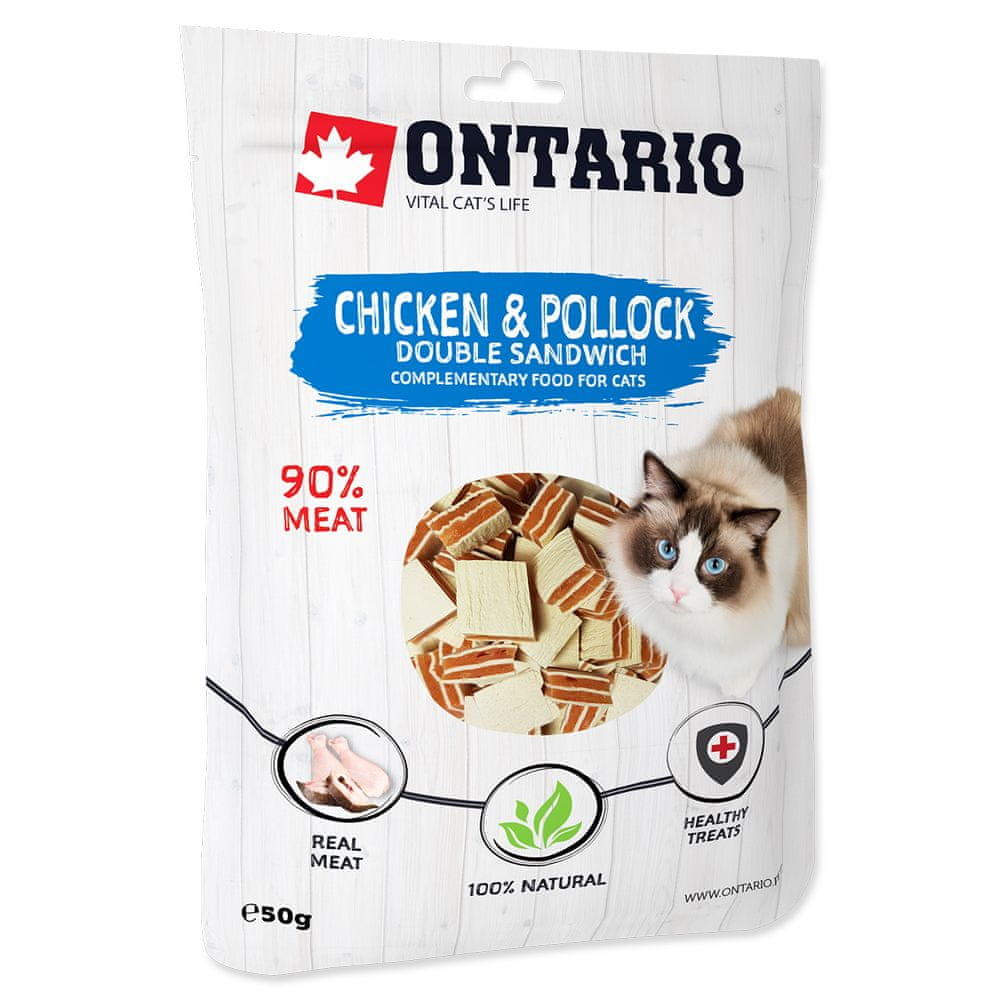 Ontario Chicken and Pollock Double Sandwich 8x50 g