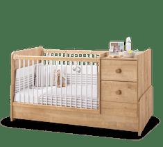 Čilek Dětská rostoucí postýlka MOCHA BABY s přebalovacím pultem