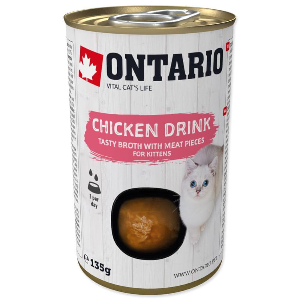 Ontario Kitten Drink Chicken 8x135 g