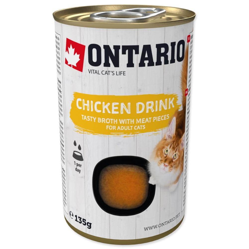 Ontario Cat Drink Chicken 8x135 g