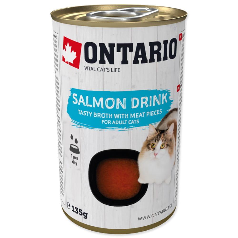 Ontario Cat Drink Salmon 8x135 g