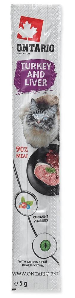 Ontario Stick for cats Turkey&Liver 24x5 g