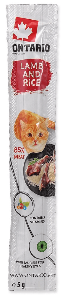 Ontario Stick for cats Lamb&Rice 24x5 g