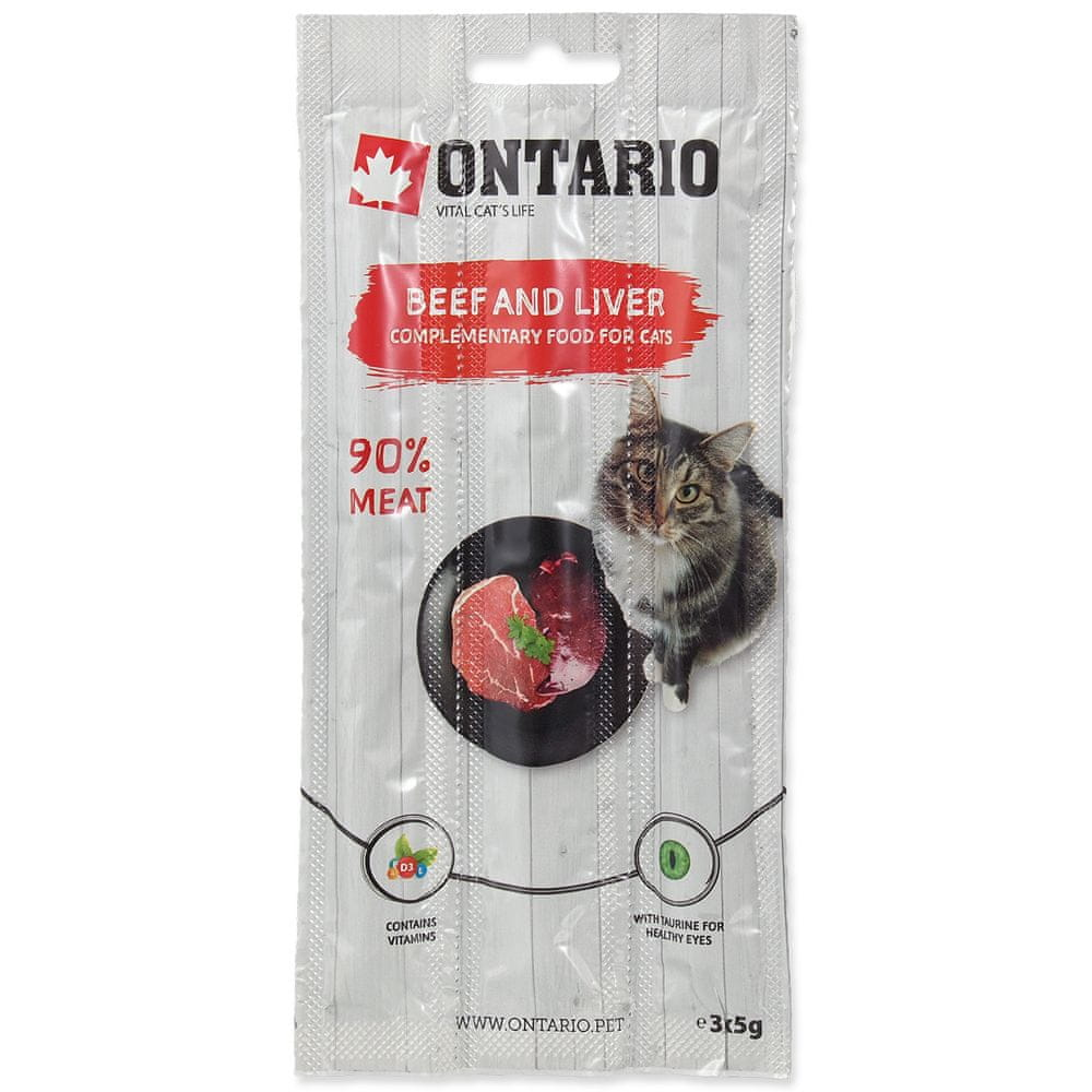 Ontario Stick for cats Beef&Liver 10x(3x5 g)