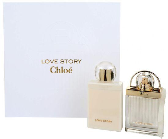 Chloé Love Story set, parfemska voda, 50 ml + mlijeko za tijelo, 100 ml