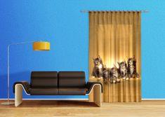 AG design Textilní závěs CATS FCSL7521, 140 x 245 cm (1 ks), lehké zastínění