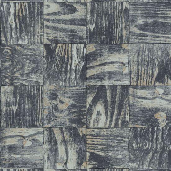 Caselio Vliesová tapeta Caselio 69689092 z kolekce MATERIAL, barva černá 0,53 x 10,05 m 69689092