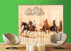 AG design Textilní závěs HORSES FCPXXL6422, 280 x 245 cm (2 ks), úplné zastínění