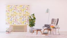 AG design Textilní závěs FLOWERS FCSXL4808, 180 x 160 cm (2 ks), lehké zastínění
