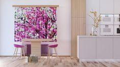 AG design Textilní závěs FLOWERS FCSXL4806, 180 x 160 cm (2 ks), lehké zastínění