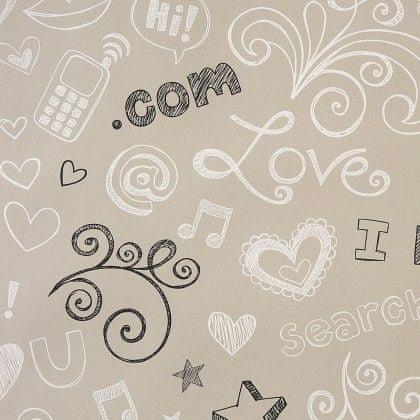 Caselio Papírová tapeta na zeď Caselio 62041099, kolekce GIRLS ONLY, materiál papír, styl moderní, dětský 0,53 x 10,05 m 62041099