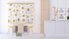 AG design Textilní závěs FLOWERS FCSXL4810, 180 x 160 cm (2 ks), lehké zastínění