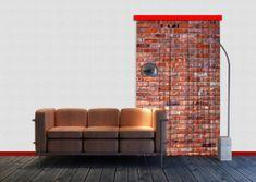 AG design Textilní závěs RED BRICKS FCSL7501, 140 x 245 cm (1 ks), lehké zastínění