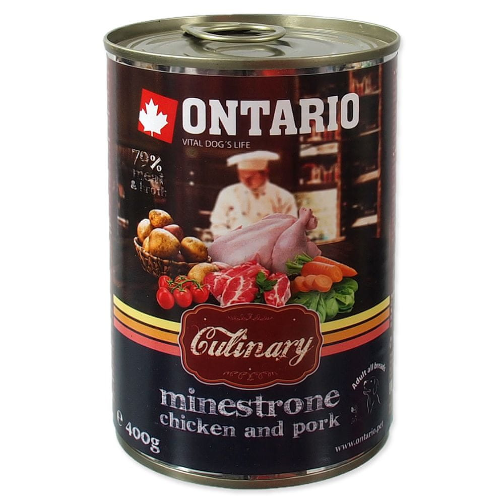 Ontario konz. Culinary Minestrone Chicken and Pork 6x400 g