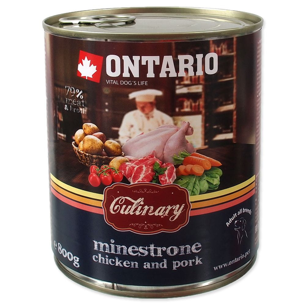 Ontario konz. Culinary Minestrone Chicken and Pork 6x800 g