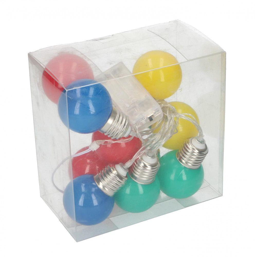 TimeLife Dekorační LED žárovky 10ks v balení barevné