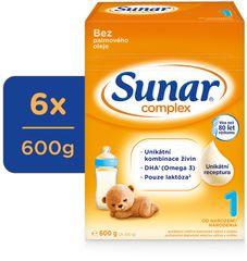 Sunar Complex 1, počáteční kojenecké mléko, 6x600g