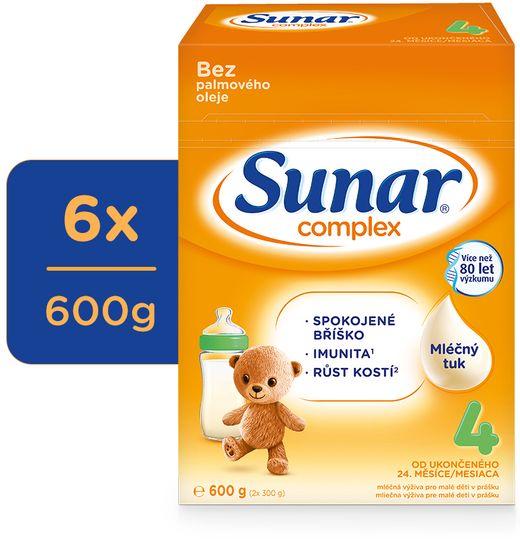 Sunar Complex 4, batoľacie mlieko, 6x600g