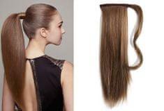 Clip-Vlasy-Levne.cz Clip in příčesek culík/cop 100% lidské vlasy 50cm - středně hnědý