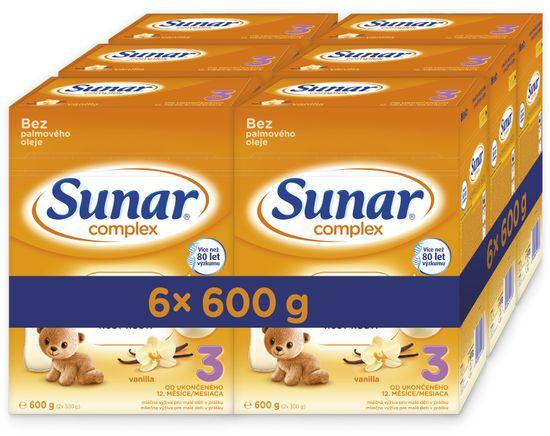 Sunar Complex 3 vanilka, 6x 600g