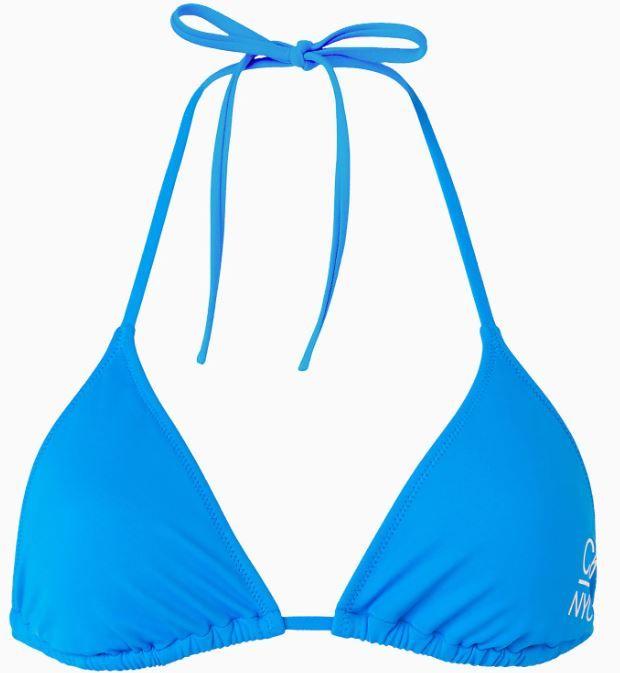 Calvin Klein dámská plavková podprsenka KW0KW01180 Triangle RP L modrá