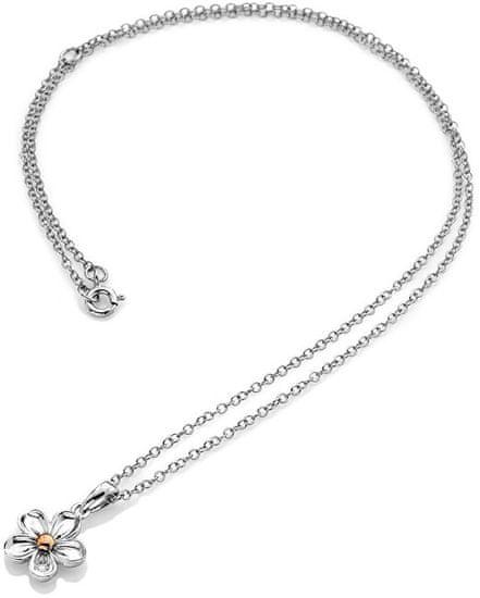 Hot Diamonds Ogrlica iz srebrnega cveta Ne pozabi me DP749 srebro 925/1000