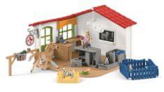 Schleich 42502 Veterinarska ordinacija za domače živali - Odprta embalaža