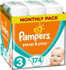 Pampers Sleep & Play 3 Midi Economy Pelenka (6-10 kg) 174 db (3x58 db)