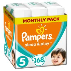Pampers Sleep & Play Economy 5 Junior (11-16 kg) 168 db (4x42 db)