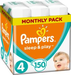 Pampers Sleep & Play 4 Maxi Pelenka (9-14 kg) 150 db (3x50 db)