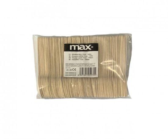 Maxpack Čajová Lžička dřevěná WT110 - 11cm jednorázová - 100ks